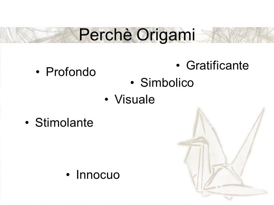 Perchè Origami Gratificante Profondo Simbolico Visuale Stimolante