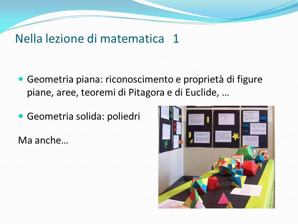Nella lezione di matematica 1