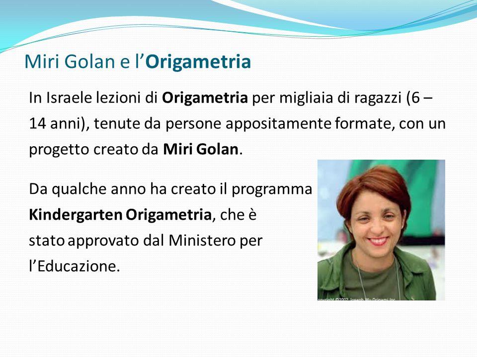 Miri Golan e l'Origametria