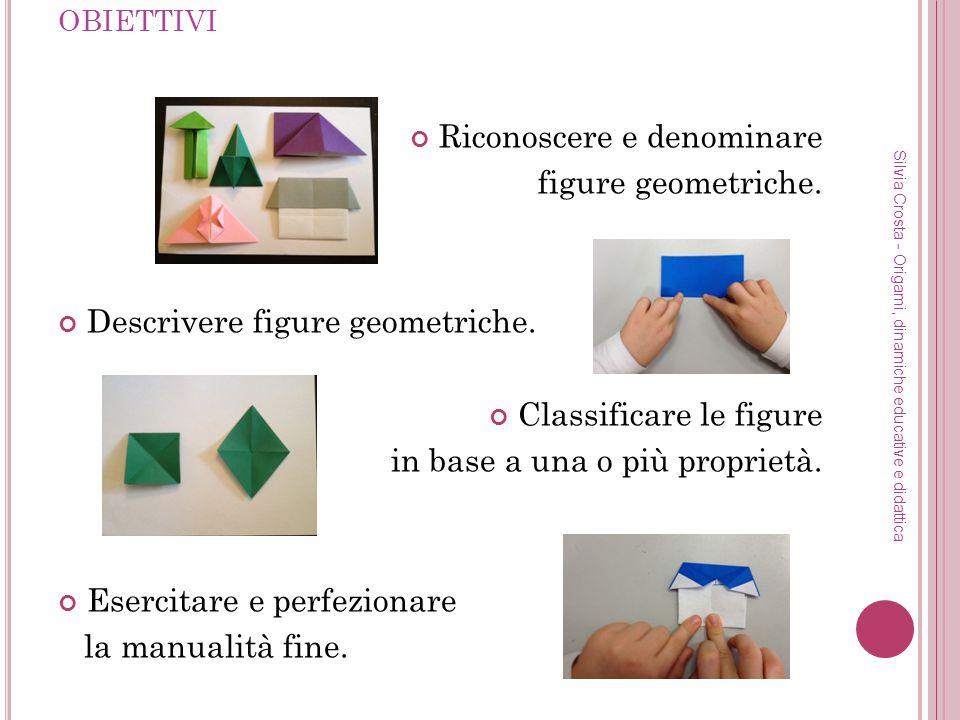 Riconoscere e denominare figure geometriche.