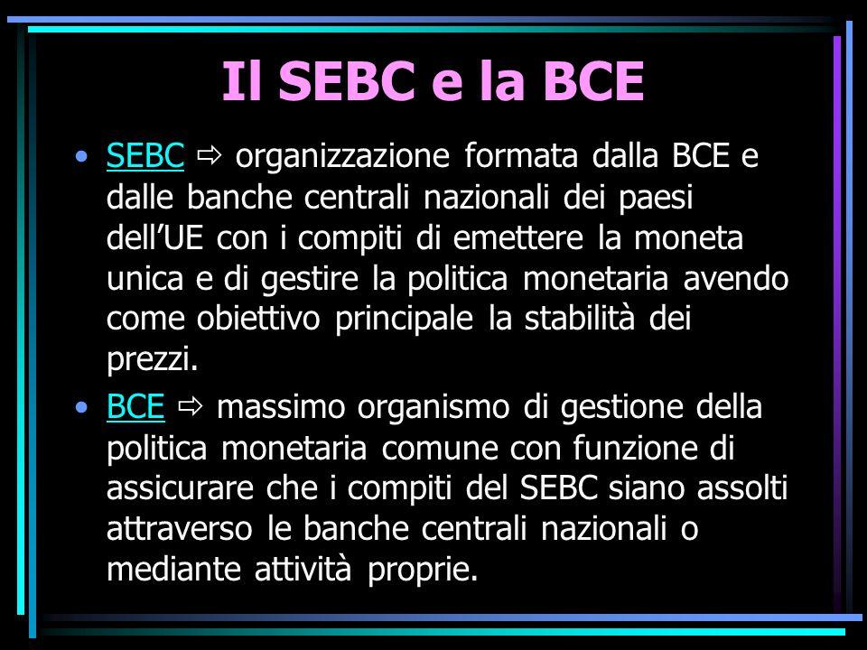 Il SEBC e la BCE
