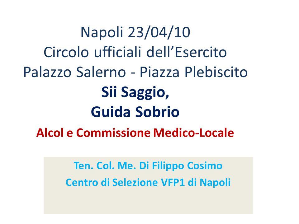 Ten. Col. Me. Di Filippo Cosimo Centro di Selezione VFP1 di Napoli