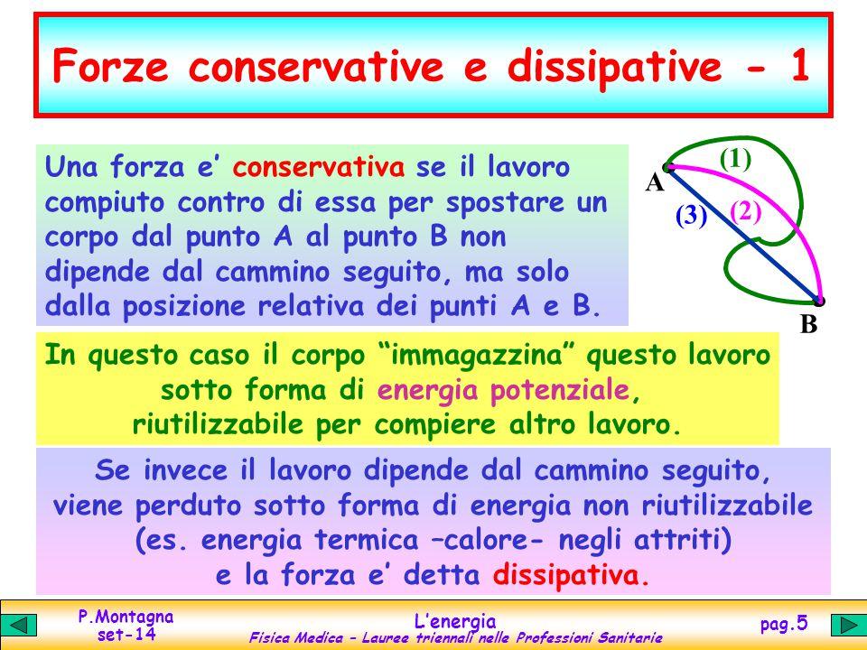 Forze conservative e dissipative - 1