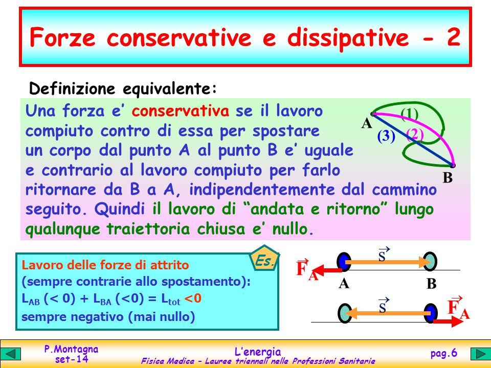 Forze conservative e dissipative - 2