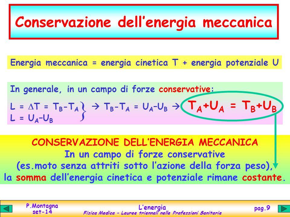 Conservazione dell'energia meccanica