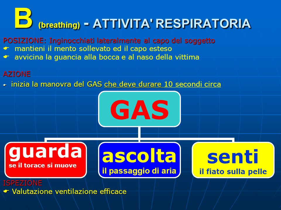 B (breathing) - ATTIVITA RESPIRATORIA