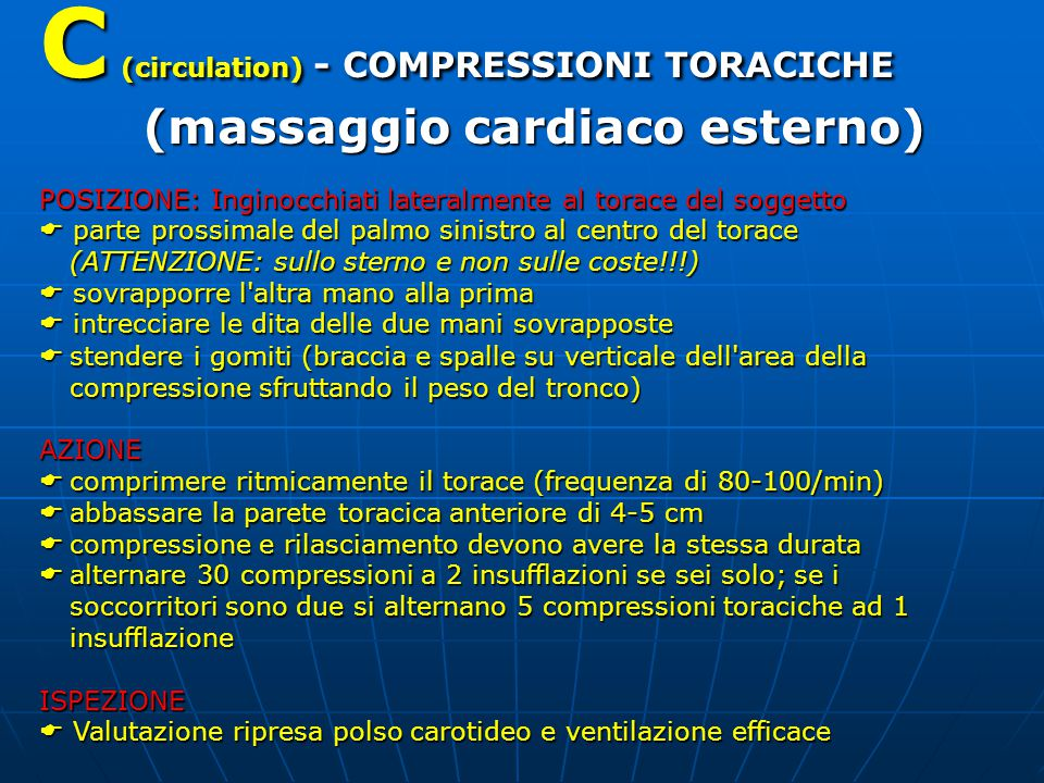 C (circulation) - COMPRESSIONI TORACICHE