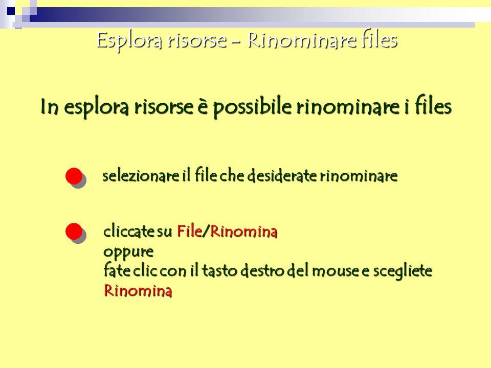 Esplora risorse - Rinominare files