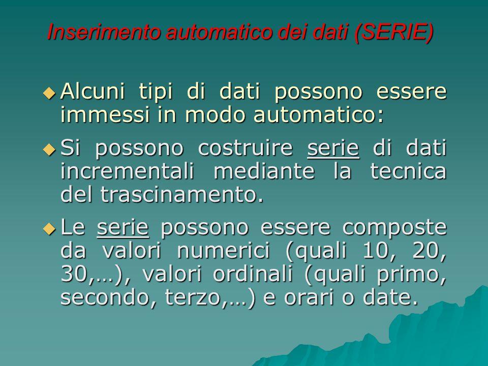 Inserimento automatico dei dati (SERIE)