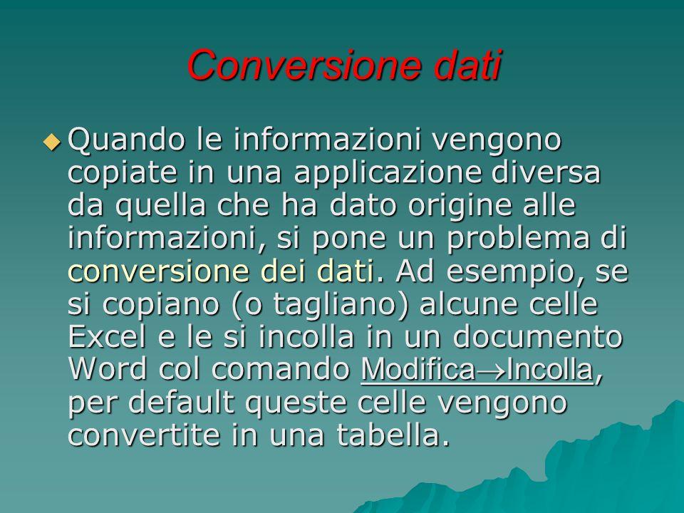 Conversione dati
