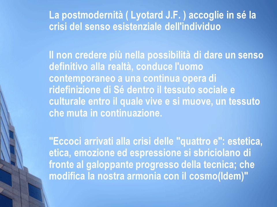 La postmodernità ( Lyotard J. F