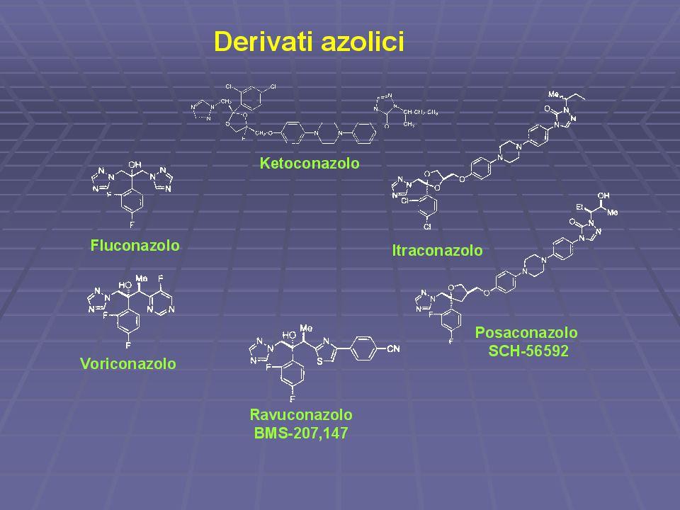 tutte molecole in quanto nell'anello azotilo sono presenit tre atomi di azoto; diazolici due moelcole di N; gli diazolici sono con un abuona tossicità fungina.
