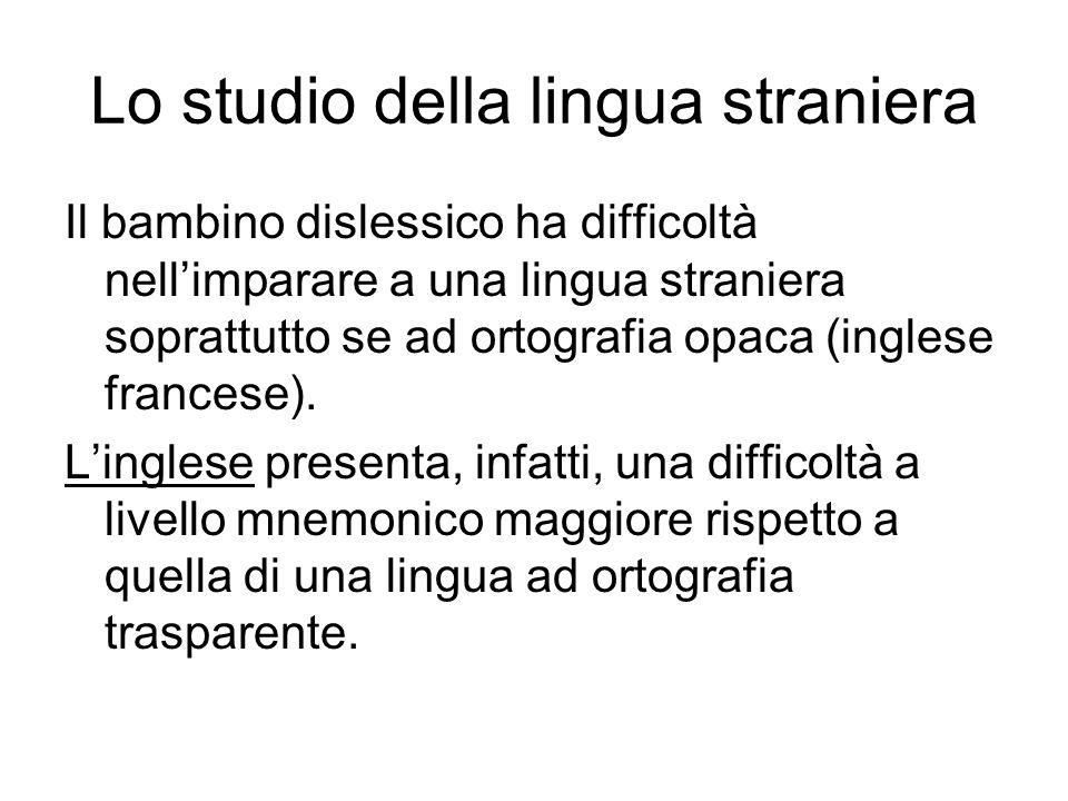 Lo studio della lingua straniera