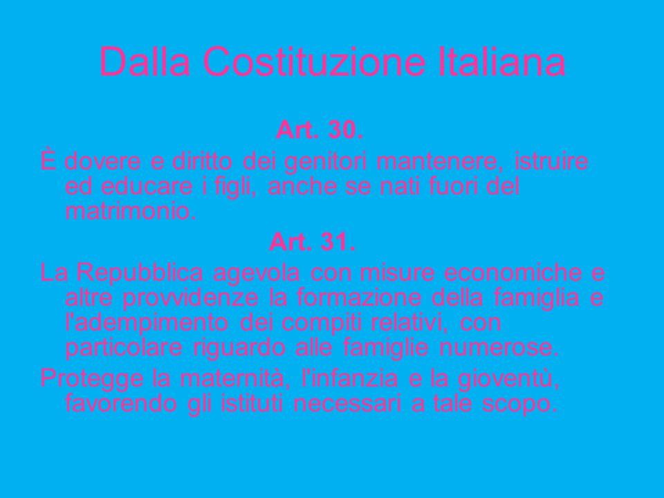 Dalla Costituzione Italiana