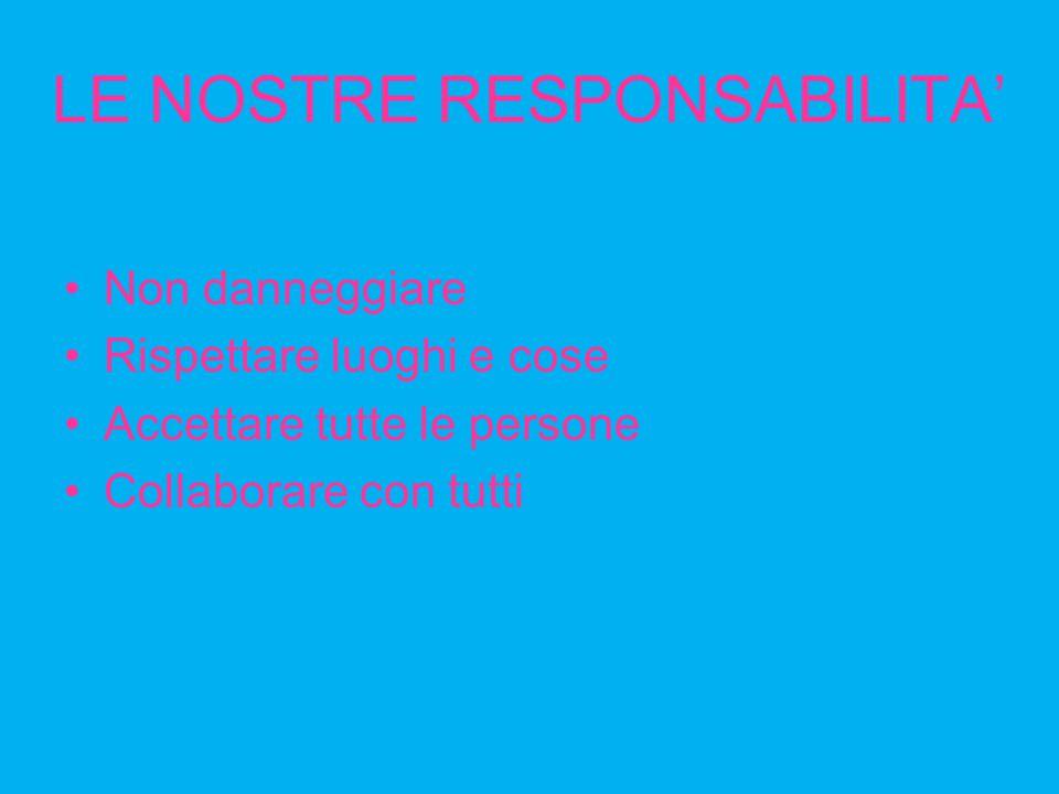 LE NOSTRE RESPONSABILITA'