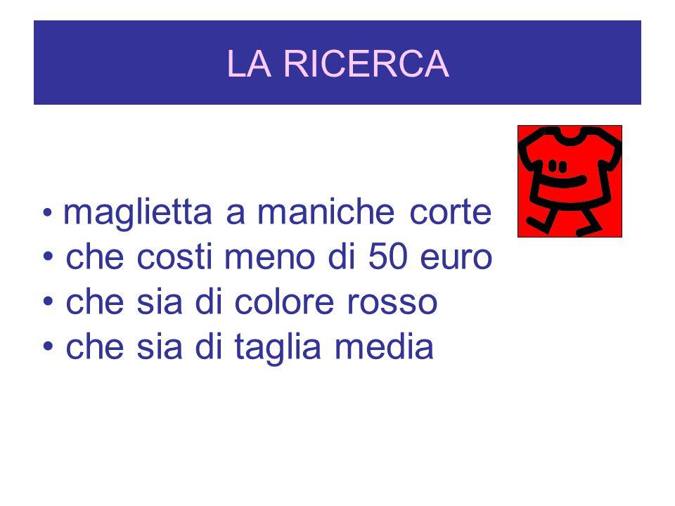 LA RICERCA che costi meno di 50 euro che sia di colore rosso
