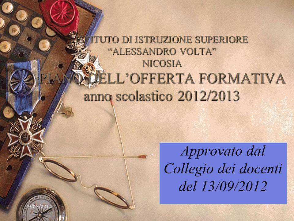 Approvato dal Collegio dei docenti del 13/09/2012