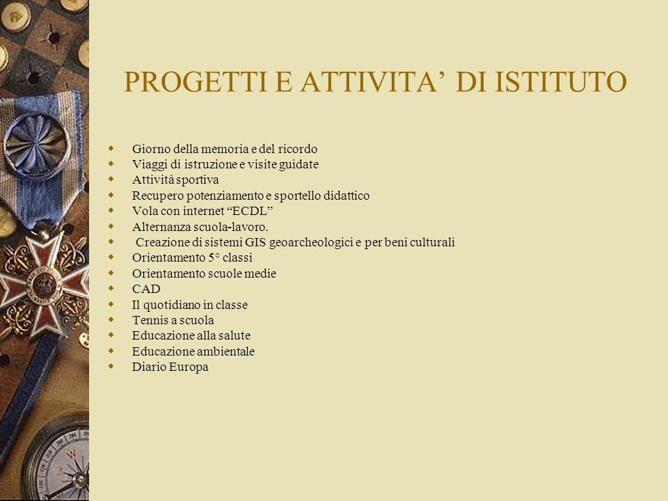 PROGETTI E ATTIVITA' DI ISTITUTO