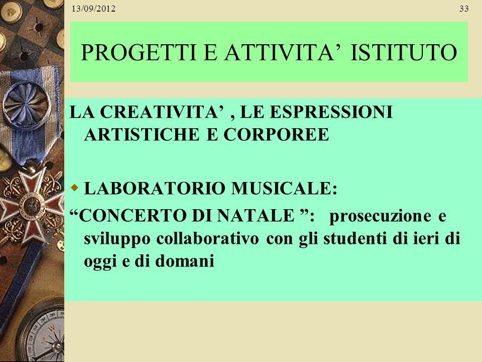 PROGETTI E ATTIVITA' ISTITUTO