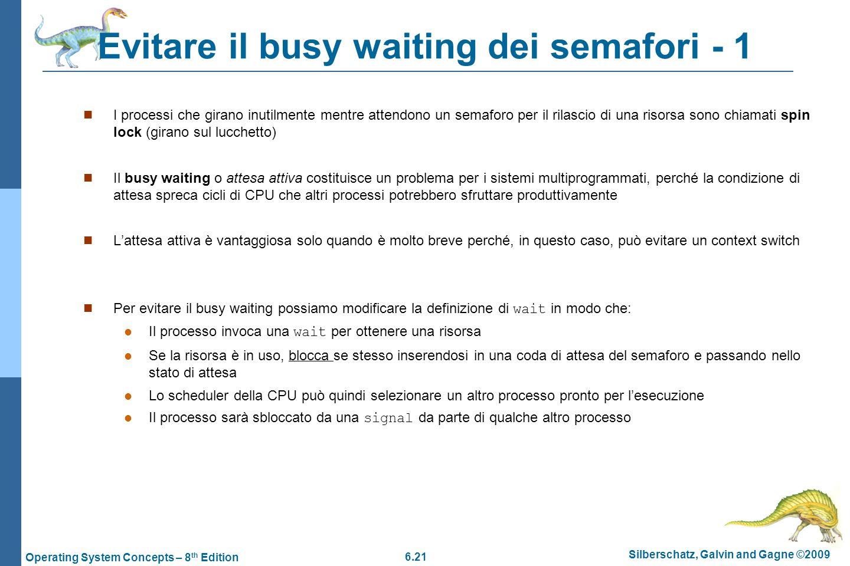 Evitare il busy waiting dei semafori - 1