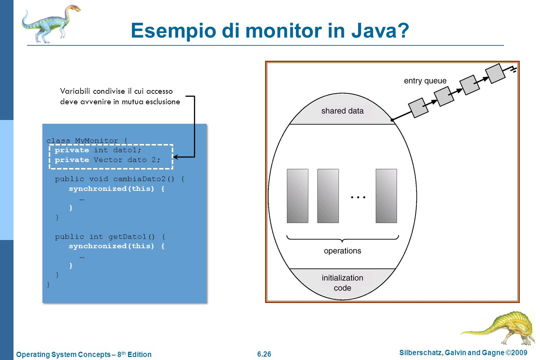 Esempio di monitor in Java