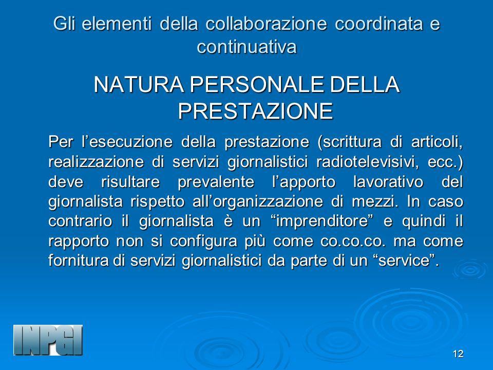 Gli elementi della collaborazione coordinata e continuativa