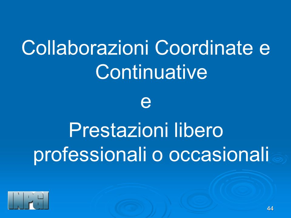 Collaborazioni Coordinate e Continuative e