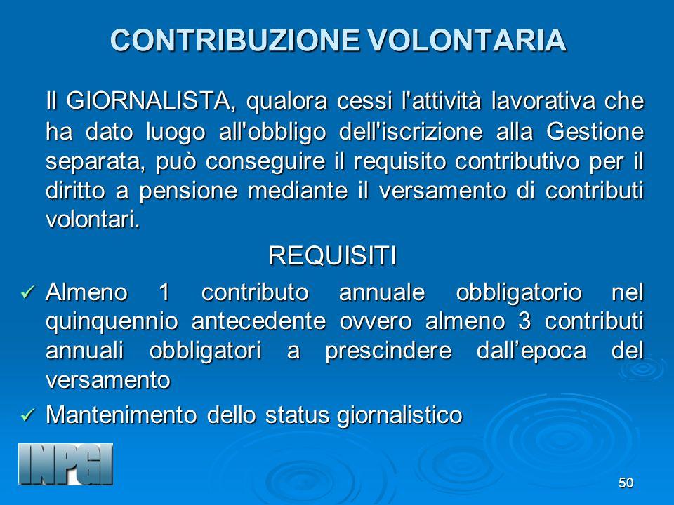 CONTRIBUZIONE VOLONTARIA