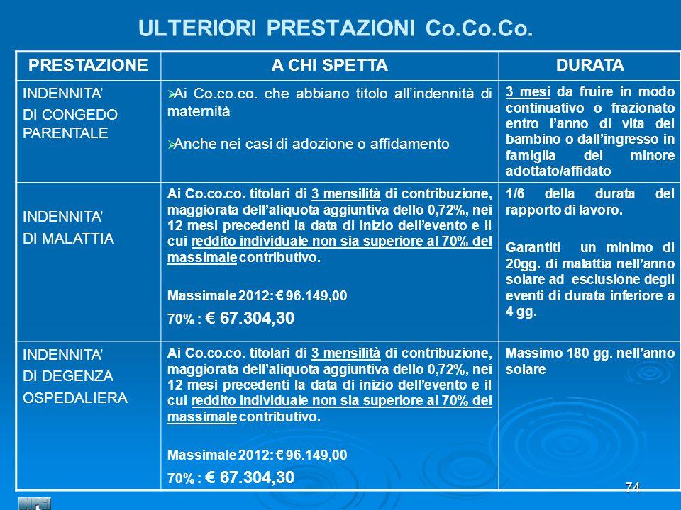 ULTERIORI PRESTAZIONI Co.Co.Co.