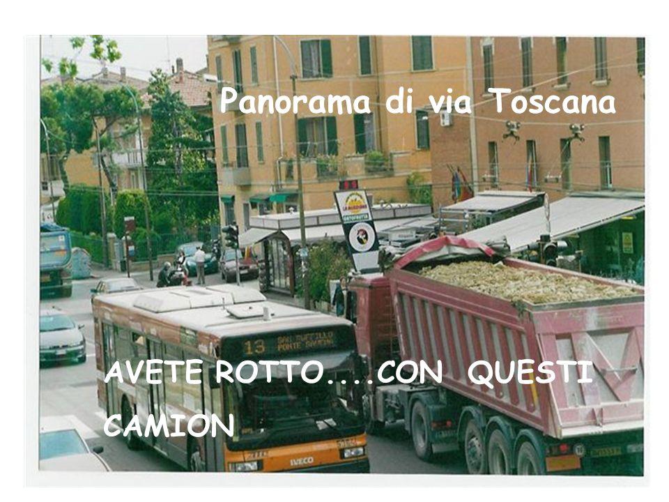 Panorama di via Toscana