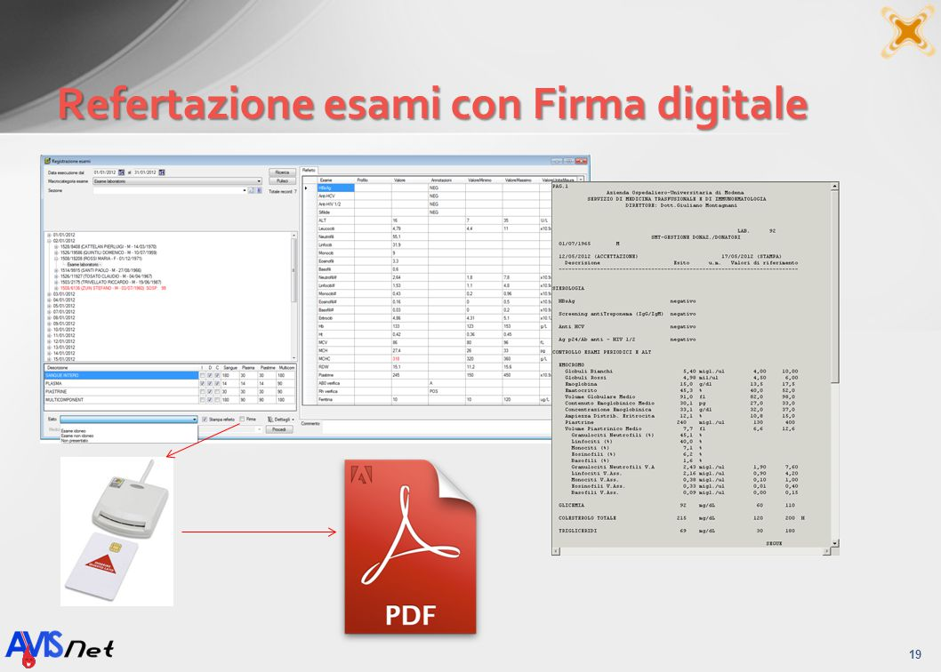Refertazione esami con Firma digitale