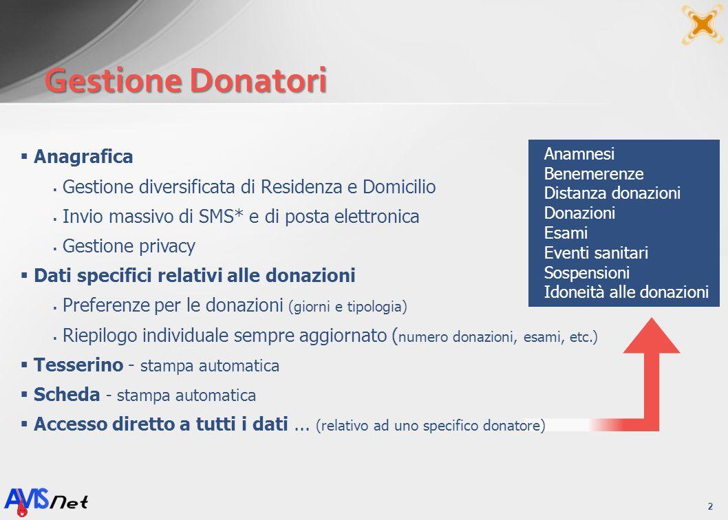 Gestione Donatori Anagrafica