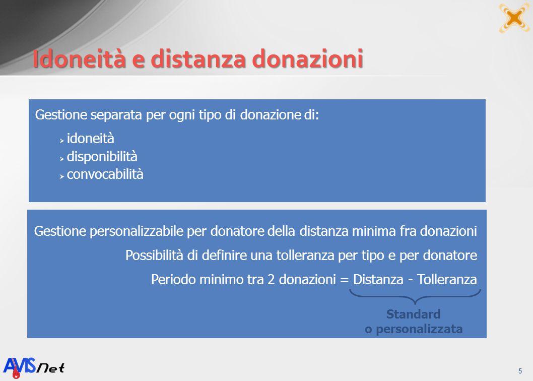 Idoneità e distanza donazioni