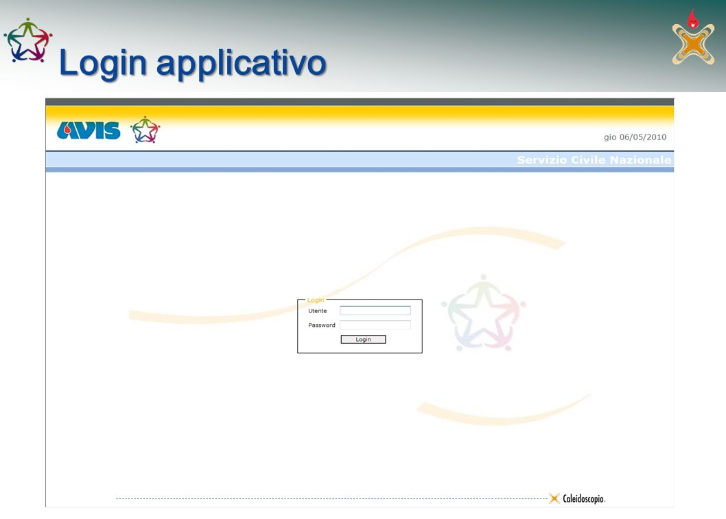 Login applicativo