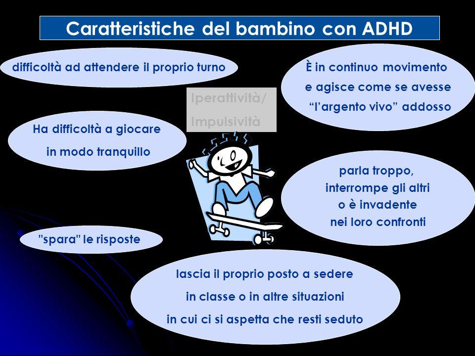 Caratteristiche del bambino con ADHD