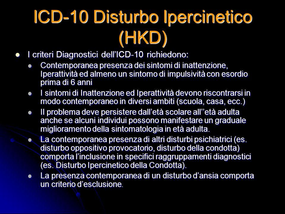ICD-10 Disturbo Ipercinetico (HKD)