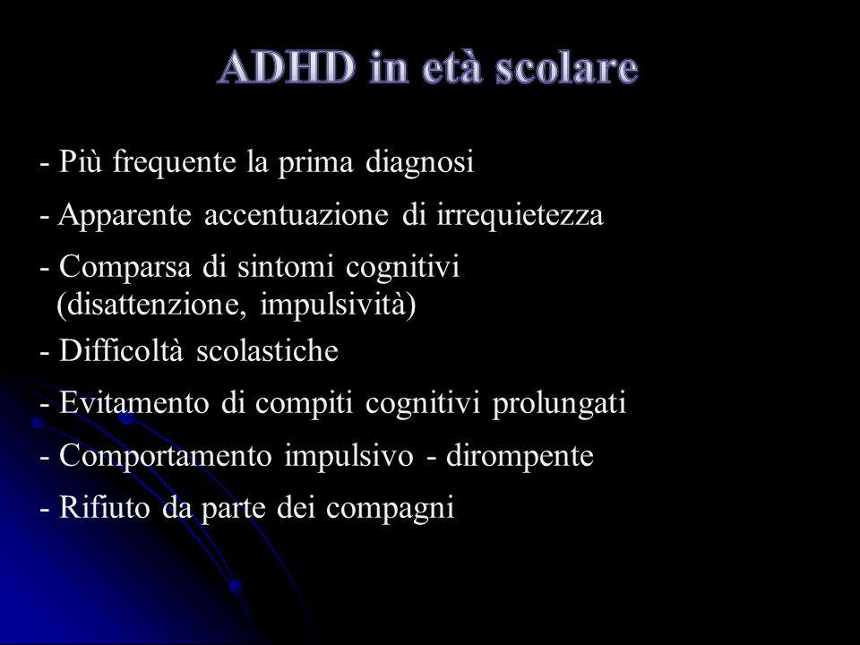 ADHD in età scolare - Più frequente la prima diagnosi