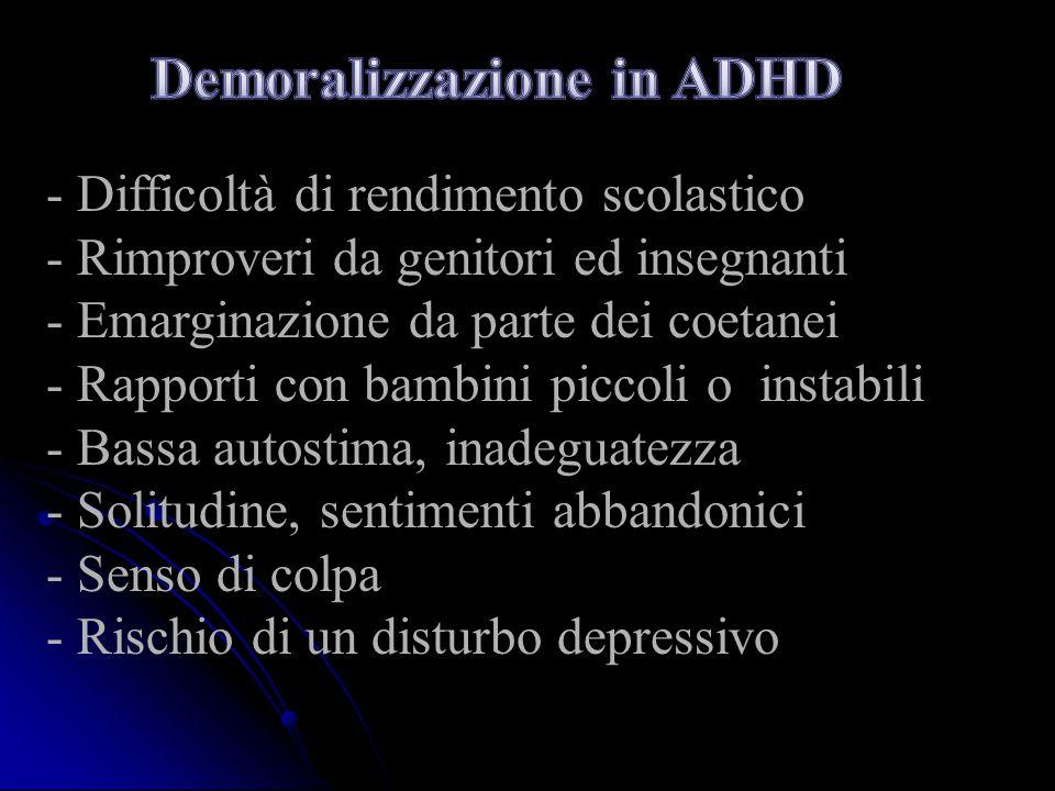 Demoralizzazione in ADHD