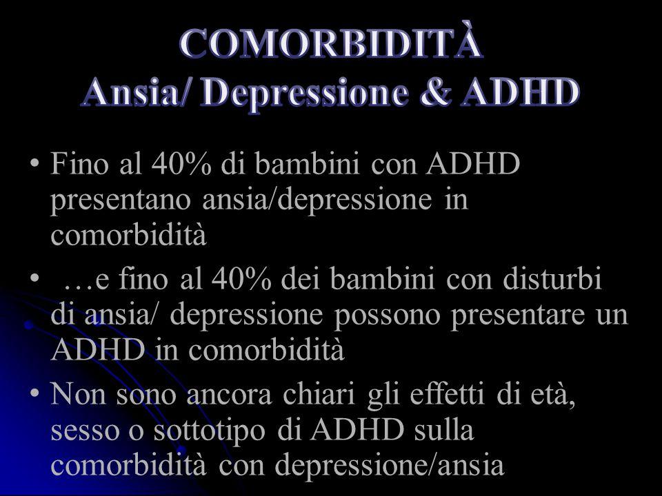 COMORBIDITÀ Ansia/ Depressione & ADHD