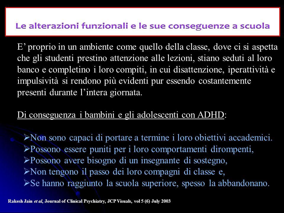 Di conseguenza i bambini e gli adolescenti con ADHD: