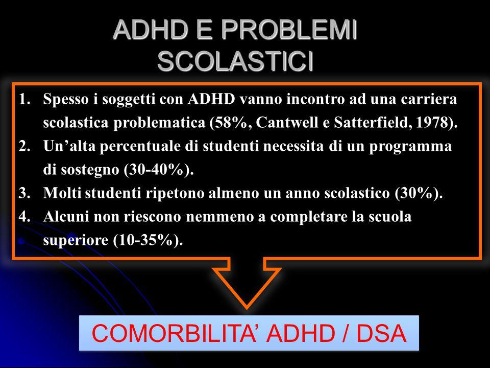 ADHD E PROBLEMI SCOLASTICI