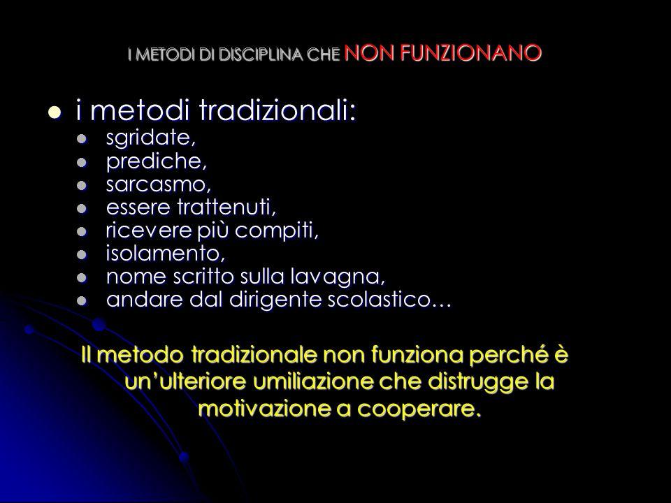 I METODI DI DISCIPLINA CHE NON FUNZIONANO