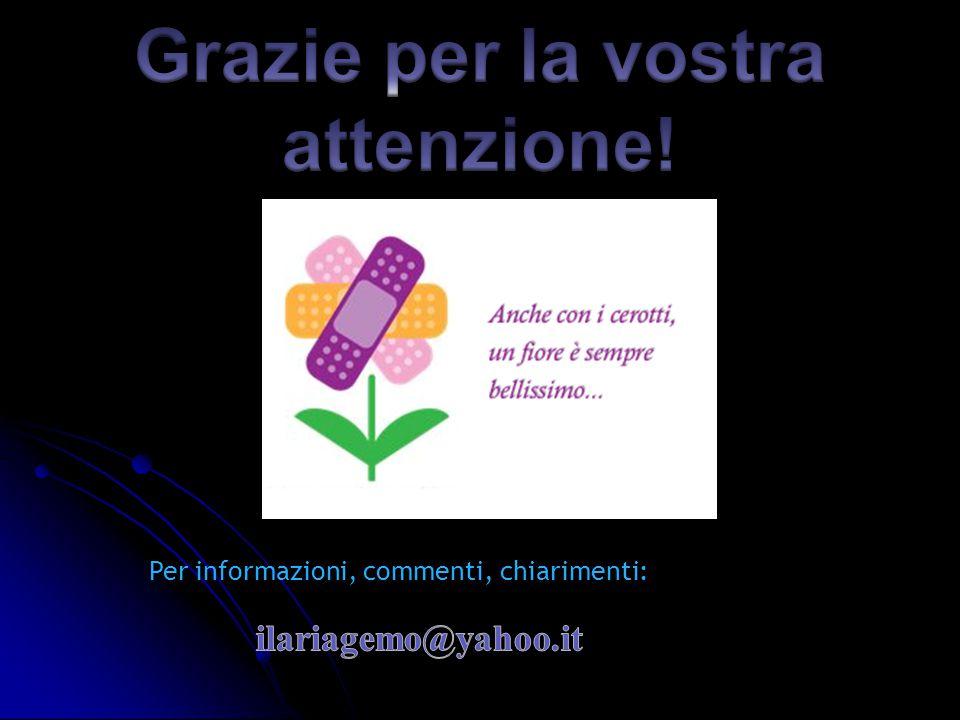 Grazie per la vostra attenzione!