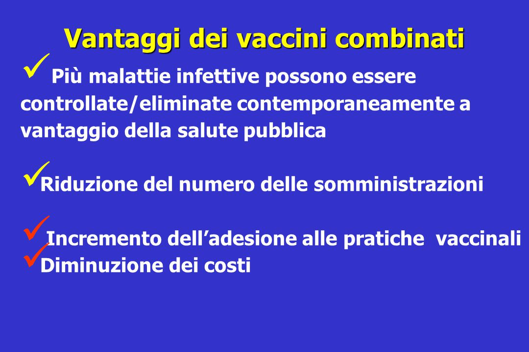 Vantaggi dei vaccini combinati