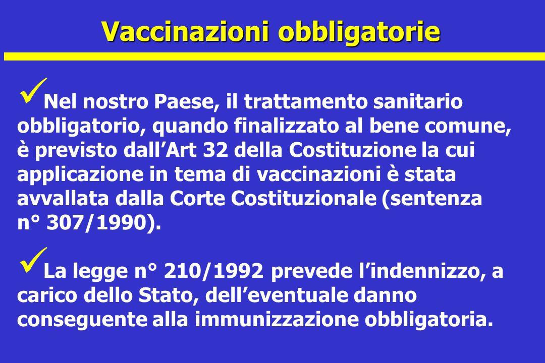 Vaccinazioni obbligatorie