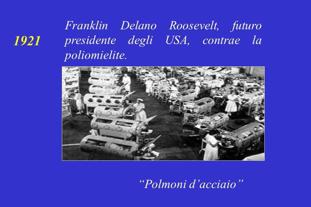 Franklin Delano Roosevelt, futuro presidente degli USA, contrae la poliomielite.