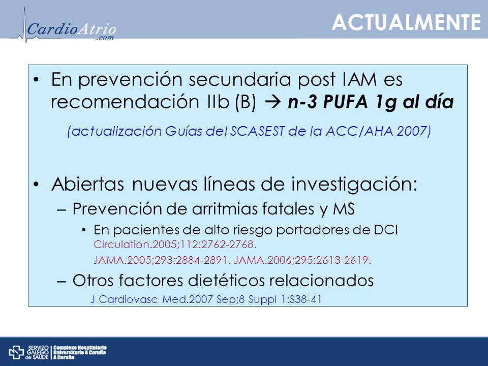 (actualización Guías del SCASEST de la ACC/AHA 2007)