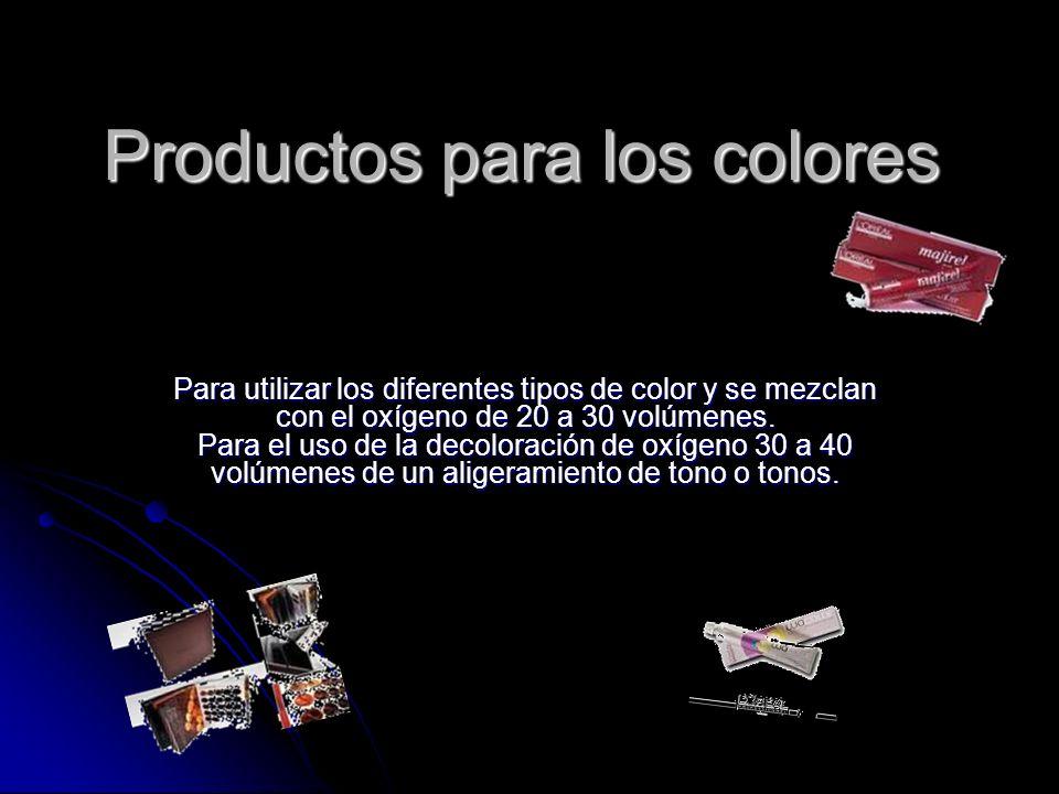 Productos para los colores