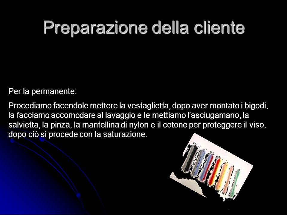 Preparazione della cliente