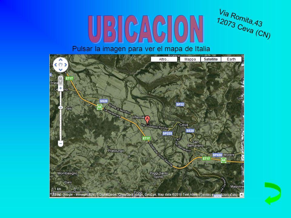 UBICACION Via Romita,43 12073 Ceva (CN)